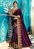 Party wear Designer Sarees Wine Colour 7802