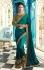 Party wear Designer Sarees Teal Green 7804
