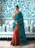 Teal green Crepe Silk Wedding wear saree 7901