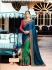 Green blue pink crepe silk wedding saree 7903