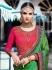 Green pink color crepe silk wedding saree 7907