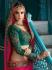 Pink teal green crepe silk wedding saree 7908