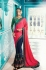Pink green blue crepe silk wedding saree 7909