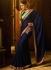 Blue art silk embroidered work traditional designer saree 74110