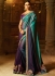 Blue shaded saree for wedding 74112