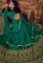 Green and Chiku color Silk party wear Lehenga kameez