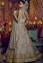 Dusty grey net and banglori silk party wear Lehenga kameez