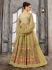 Beige color net wedding wear Ghagra Choli
