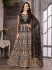Black color net wedding wear suit