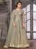 Grey color net wedding wear Ghagra Choli