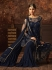 Navy blue color net wedding wear Sharara Style suit