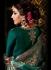 Bottle green color satin georgette wedding wear anarkali suit