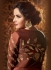 Brown color satin georgette wedding wear anarkali suit