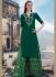 Dark green color cotton Palazzo salwar kameez