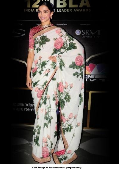 Bollywood Sabyasachi Mukherjee Inspired Deepika Padukone Floral saree