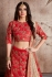 Indian Dress Red Color Bridal Lehenga 469