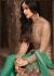 Sonal Chauhan Beige and Sea green Net party wear anarkali kameez