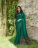Bollywood Prachi Desai Teal green silk designer party wear saree