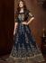 Bollywood Sonal Chauhan Blue georgette wedding anarkali