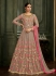 Brown Silk Floor Length Indian wedding Anarkali Suit 32003