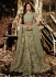 Jennifer Winget Green Indian wedding anarkali 1131