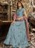 Jennifer Winget blue Indian wedding anarkali 1132