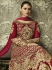 Magenta color silk Indian wedding wear anarkali 1001
