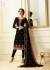 Black georgette Indian wedding straight cut churidar 10006