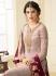 Light pink georgette Indian wedding straight cut churidar 10007
