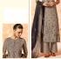 Grey dola silk Indian Palazzo salwar kameez K12