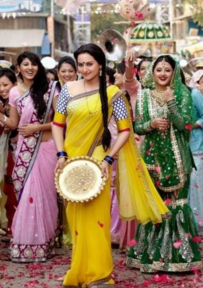 Sonakshi sinha Dabang Yellow Saree