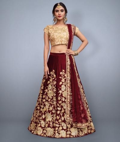 dc6f6eb574 Maroon-Velvet-Silk-Indian-wedding-wear-lehenga-choli-751.jpg