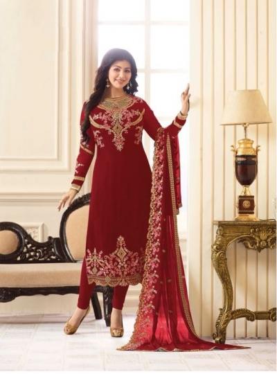 Ayesha Takia Green Georgette straight cut Indian Wedding salwar kameez 18013A