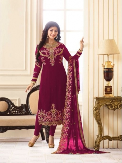 06f7b3312b Ayesha-Takia-Magenta-Georgette-straight-cut-Indian-Wedding-salwar-kameez -18013C.jpg