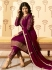 Ayesha Takia Purple georgette straight cut Indian wedding pant style suit 225