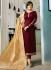 Ayesha Takia Maroon color satin georgette straight cut Indian wedding salwar kameez 22126