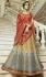 Blue beige shaded silk Indian wedding lehenga 13162