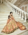 Peach silk Indian wedding lehenga 13163