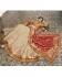 Off white silk Indian wedding lehenga 13164