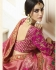 Pink silk Indian wedding lehenga 13167