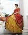Mustard silk Indian wedding lehenga 13169