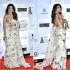 Bollywood Shilpa Shetty White Ruffle georgette saree