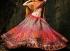 Pink and mustard colour bridal lehenga choli