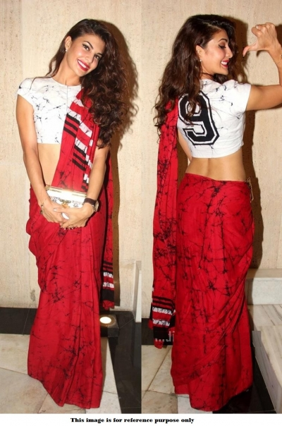 Bollywood Jacqueline Fernandez cotton saree