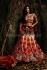 Cream and maroon colour bridal lehenga choli