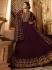 Amyra Dastur Wine georgette wedding anarkali 9085