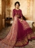 Amyra Dastur Magenta georgette wedding anarkali 9087