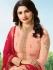 Bollywood Prachi Desai Peach Silk Indian wedding anarkali 8074