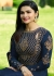 Bollywood Prachi Desai Navy blue Silk Indian wedding anarkali 8075