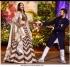 Bollywood Sonam Kapoor Banglori silk brown reception lehenga